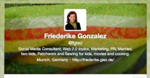 Beispiel für Twitter-Profil