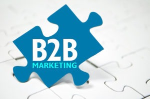 Puzzle mit B2B Marketing