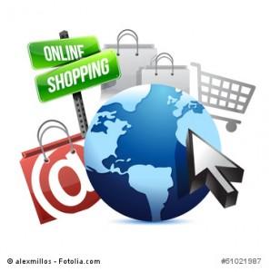international online shopping concept