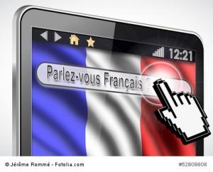 tablette et drapeau Français : parlez-vous français
