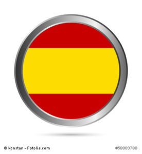 Spain flag button.