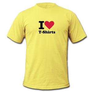 Spreadshirt I love tshirts