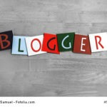 Blogger sign for internet blogs & computer users