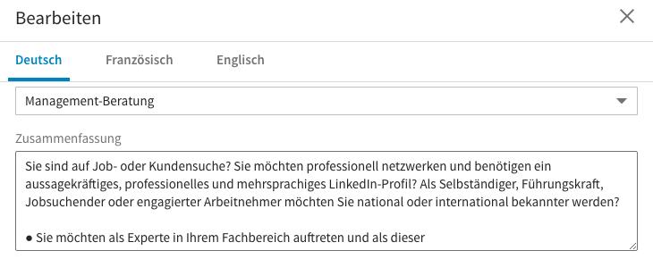 wenn sie im bearbeitungs modus sind knnen sie zwischen den angelegten sprachen wechseln bei mir sind das derzeit deutsch franzsisch und englisch - Zusammenfassung Franz Sisch