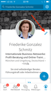 linkedin-app-bearbeiten